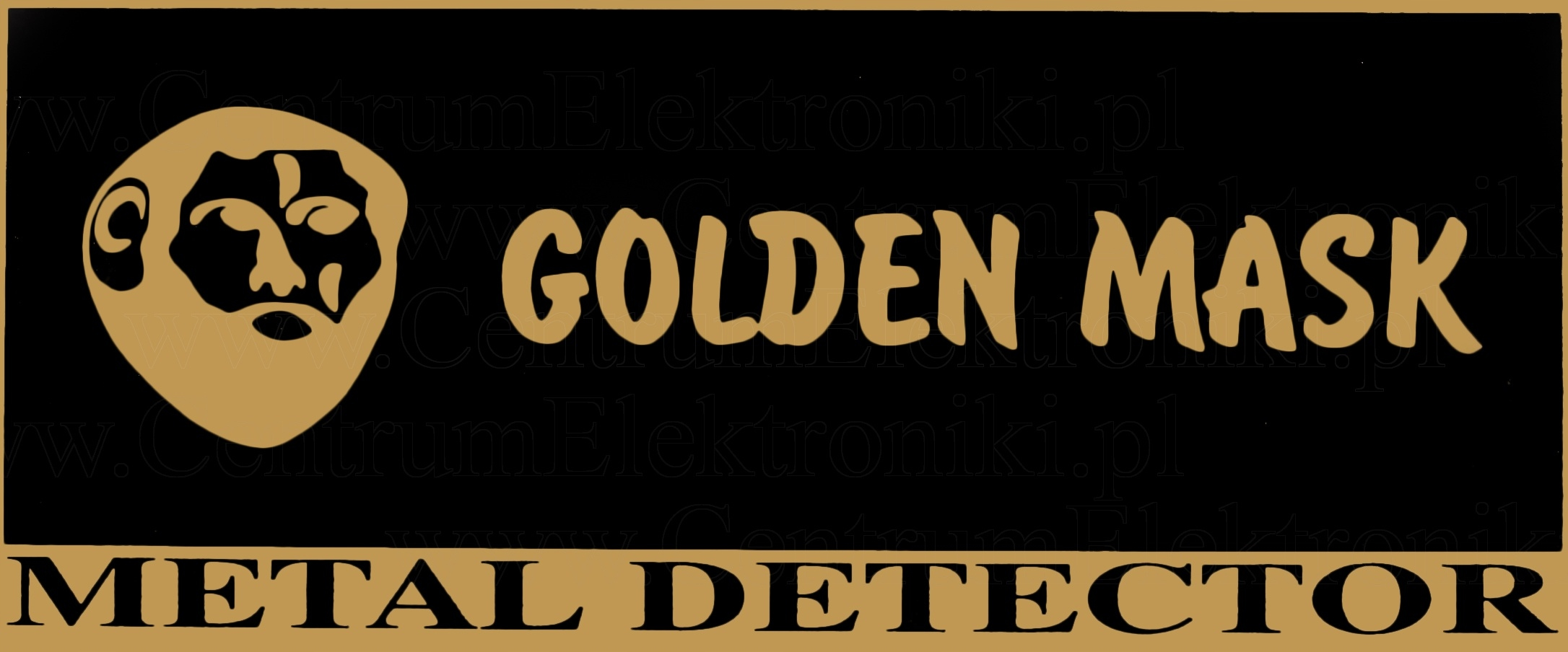 golden mask detector de metal logo